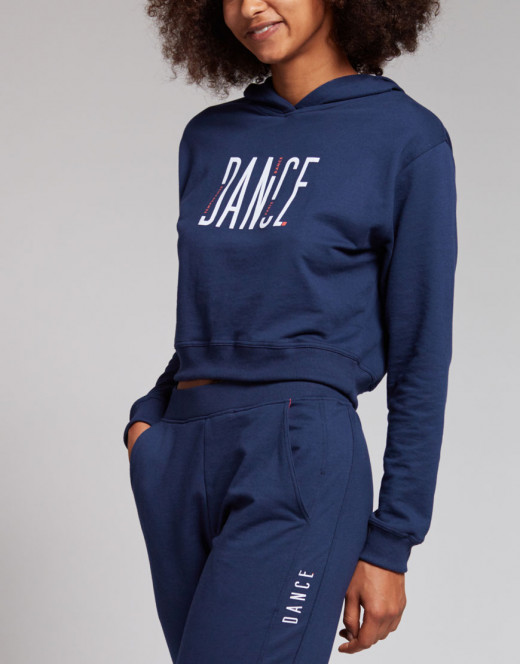 Damen Crop Hoodie  - TAIGA SQUARE Relaxed Cropped Fit Hoodie mit Logo