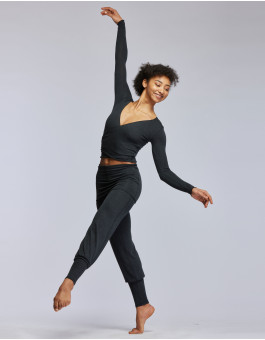 Dance, Yoga and Warm-up pants - ECRIN PANTS MADE OF HEATHER VISCOSE
